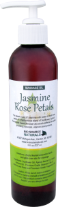 Jasmine Rose Petals Massage Oil Reduces Tension and Aids Intuition
