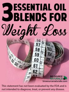 3 Essential Oil Blends for Weight Loss