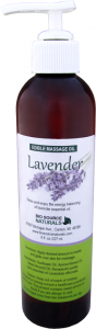 Edible Lavender Massage Oil Soothes Inflammation, Balances Energy