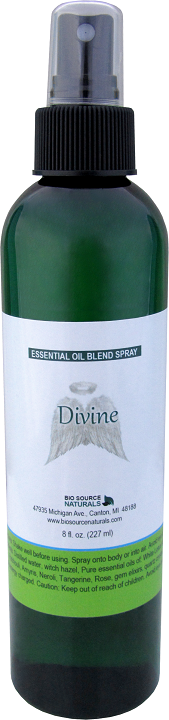Divine essential oil blend spray