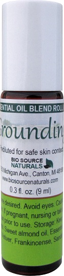 grounding essential oil blend roll on