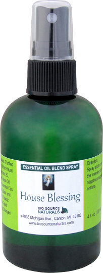 House Blessing essential oil blend spray reiki charged