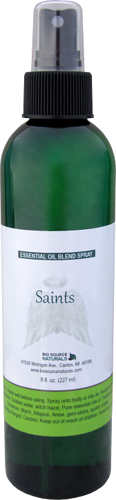 Saints essential oil blend spray