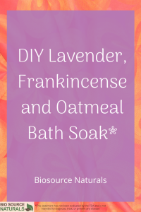 DIY Soothing Lavender & Frankincense Oatmeal Soak for the Bath