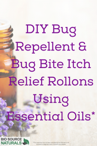 DIY Bug Repellent & Bug Bite Itch Relief Rollons